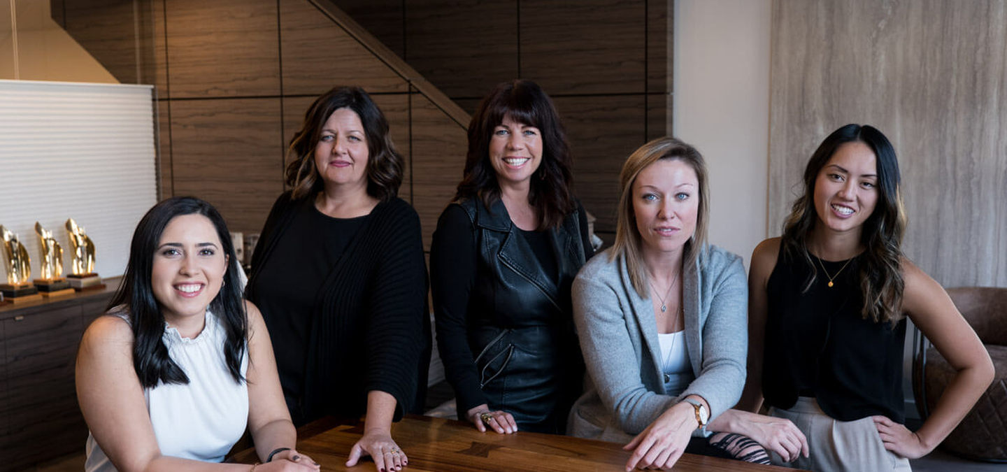 Spaciz Team - Left to right: Victoria Vega, Michele Putters, Tracey Lamoureux, Carley Petillion, Melissa Orton